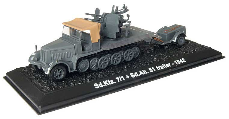 Sd.Kfz.7/1 with Sd.Ah.51, 24th Panzer Division, German Army, Battle of Stalingrad, September 1942 (1:72), Amercom Diecast Item Number ACBG03