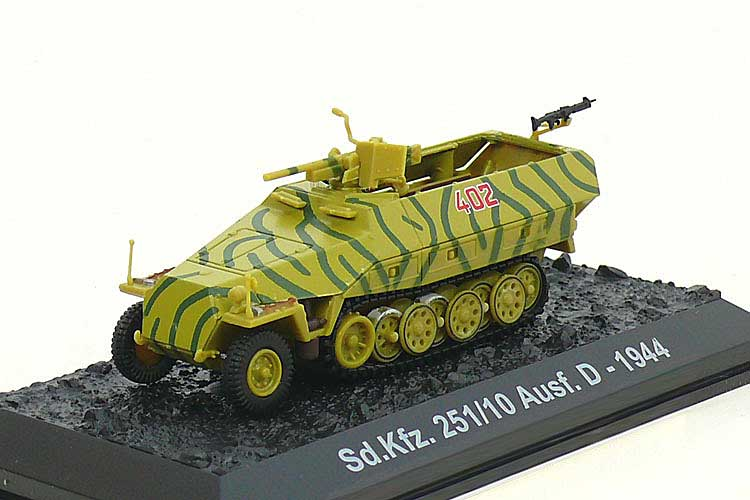 "Sd.Kfz.251/10 Ausf.D, 5th SS Panzer Division ""Wiking,"" Waffen-SS, Poland, Summer 1944 (1:72), Amercom Diecast Item Number ACBG06"