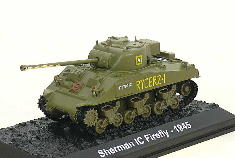 "Sherman IC Firefly, 2nd Squadron, 1st Krechowiecki Lancers, 2nd Armoured Brigade, 2nd ""Warsaw"" Armoured Division, Polish Armed Forces, Italy 1945 (1:72), Amercom Diecast Item Number ACBG10"