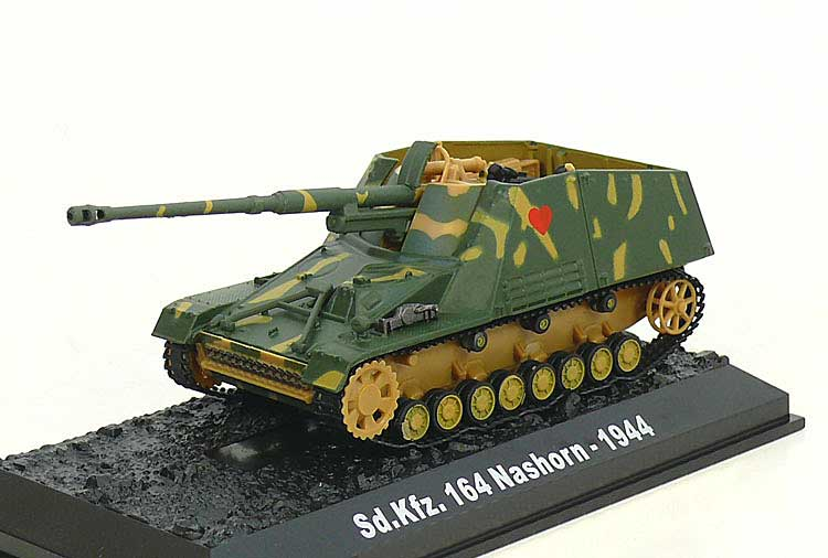"Sd.Kfz.164 Nashorn, ""Red Heart,"" 3./s.H.Pz.Jg.Abt 88, German Army, Eastern Front, 1944 (1:72), Amercom Diecast Item Number ACBG15"