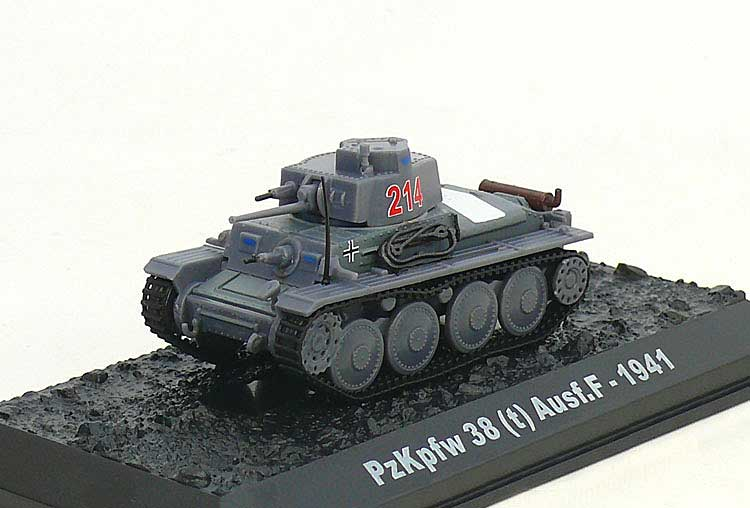Sd.Kfz.140 PzKpfw 38(t) Ausf.F, 7th Panzer Division, German Army, Eastern Front, 1941 (1:72), Amercom Diecast Item Number ACBG17