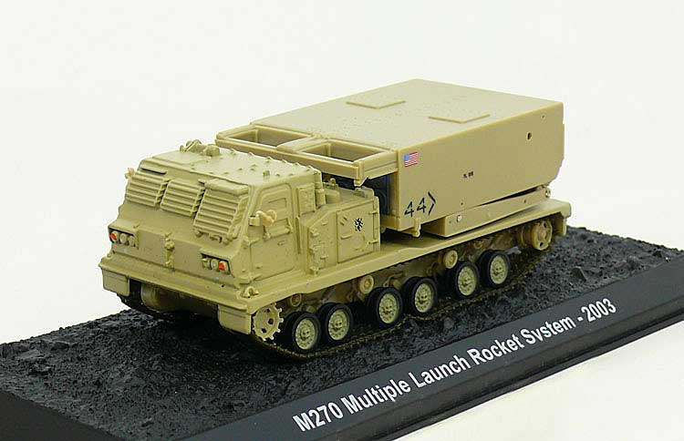 M270 MLRS (with Movable Launch System), U.S. Army, 2003 (1:72), Amercom Diecast Item Number ACBG21
