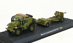 C8 Field Artillery Tractor (Quad) with 25-Pounder and Limber, 7th Armoured Division, British Army, Normandy, France, June 1944 (1:72), Amercom Diecast Item Number ACBG25