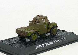 "AMD 35 Panhard 178, ""LAvalanche,"" French Army, 1940 (1:72), Amercom Diecast Item Number ACBG42"