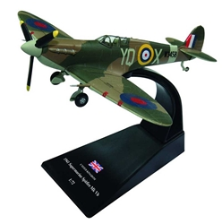 "Supermarine Spitfire Mk.V,Sqn. Ldr. L.H. ""Buck"" Casson, No. 616 Squadron, RAF, July 1941 (1:72) by Amercom Diecast, Item Number: ACSL03"