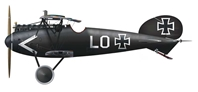 "Albatross D.Va Fighter, Ernst Udet ""LO"" (1:72 Scale) by Amercom Diecast, Item Number: ACSL13-02"