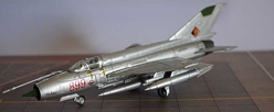 Mikoyan-Gurevich MiG-21J, Deutsche Demokratik Republik (East Germany), 1999 (1:100), Amercom Diecast Item Number ACSL17-02