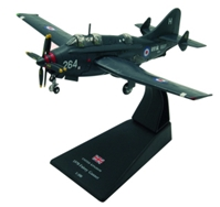 Fairey Gannett, 849 Squadron A Flight, HMS Hermes, Royal Navy, 1970 (1:72) by Amercom Diecast Item Number: ACSL59