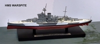 British Royal Navy battleship HMS Warspite (1:1250)