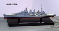 British Royal Navy heavy cruiser HMS Exeter (1:1250)