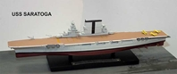 United States Navy aircraft carrier USS Saratoga (CV-3) (1:1250)