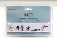 German Combat Group Figures (1:72), Blitz 72 Diecast Military Armor Item Number BL00003