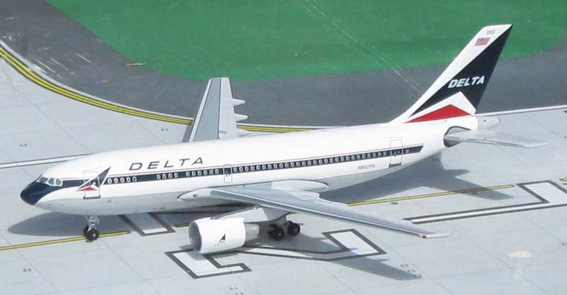 "Delta Air Lines A310-222 N802PA ""Widget Colors"" (1:400), Byrd Models Item Number VMN802PA"