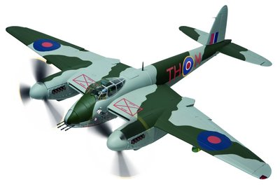 "de Havilland Mosquito FBVI - NS850 RCAF 418 Sqn ""Black Rufe"" (1:32), Corgi Diecast Aviation Item Number AA34605"