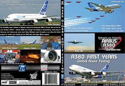 A380 Second Year 'Global Testing', Air Utopia Aviation DVDs Item Number AUT38