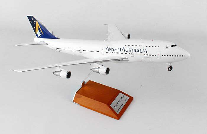 Ansett Australia B747-300 VH-INJ, with Stand (1:200), JC Wings Diecast Airliners, Item Number BBOX215