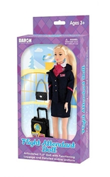 Flight Attendant Doll (No Airline Markings), Daron Toys, Item Number DA400-1