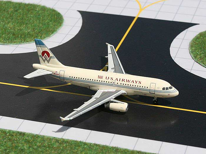 "US Airways A319 ""America West Heritage Colors"" (1:400), GeminiJets 400 Diecast Airliners, Item Number GJAWE683"