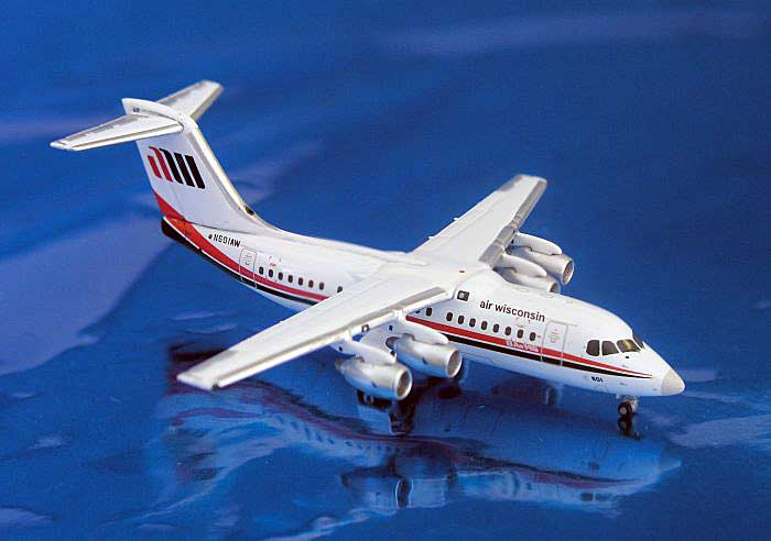 Air Wisconsin Bae 146-200 (1:400), GeminiJets 400 Diecast Airliners, Item Number GJAWI760