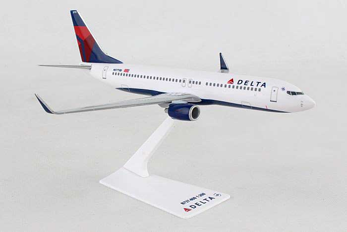 Delta 737-800 New Colors 2007 (1:200), Flight Miniatures Snap-Fit Airliners, Item Number BO-73780H-037