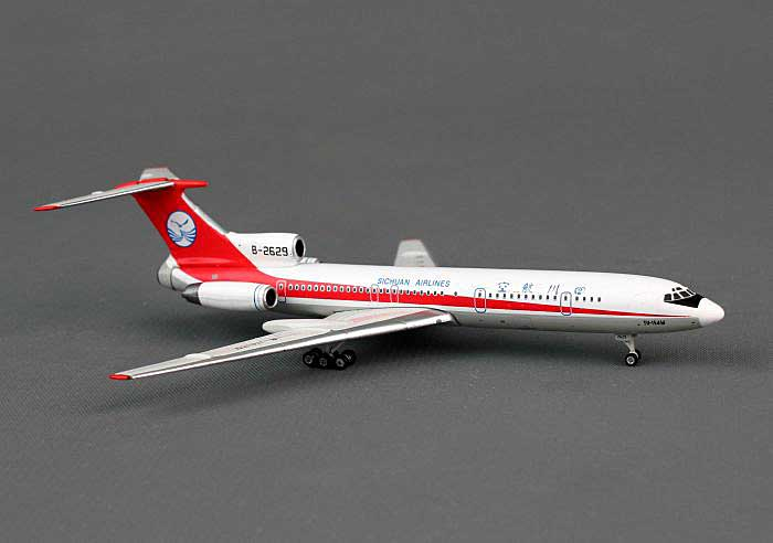 Sichuan Airlines TU-154M B-2629 ((1:400)), Phoenix (1:400) Scale Diecast Aircraft, Item Number PH4CSC1069