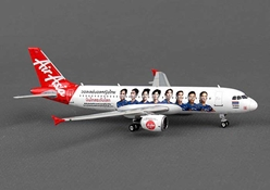 "Air Asia Thailand A320 ""Volleyball"" HS-ABC (1:400), Phoenix 1:400 Scale Diecast Aircraft, Item Number PH4AIQ1233"