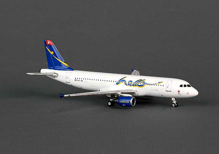 "Hello A320-200 "" FC Basel"" HB-JIW (1:400), Phoenix 1:400 Scale Diecast Aircraft, Item Number PH4FHE814"