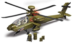 AH-64 Apache Helicopter 2 Figures W/Light & Sound, Red Box, Item Number RB78203