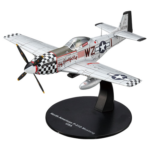 "North American P-51D Mustang - ""Big Beautiful Doll,"" 14.5-Victory ace Col. John Landers, 78th FG, USAAF, RAF Duxford, 1944 (No box/magazine) (1:72)"