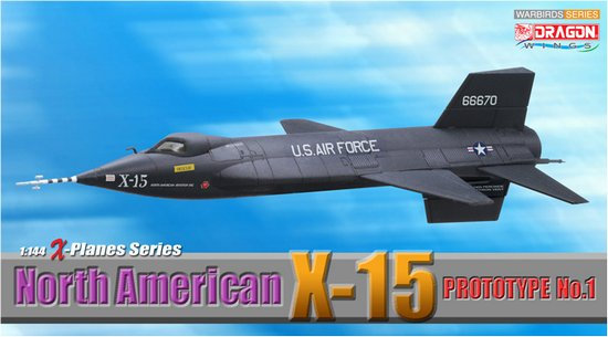 North American X-15 Prototype No.1 (1:144), DragonWings 1:144 scale Diecast Warbirds Item Number DRW51022