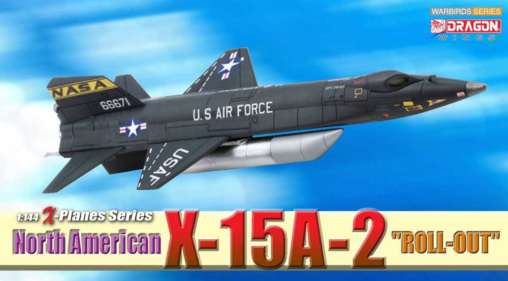 "North American X-15A-2, ""Roll Out"" (1:144), DragonWings 1:144 scale Diecast Warbirds Item Number DRW51036"