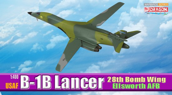 B-1B Lancer 28th Bomb Wing Ellsworth AFB (1:400), DragonWings 400 Diecast Airliners Item Number DRW56225