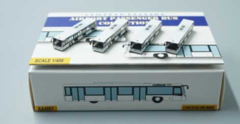 Airport Buses, White, 4 (1:400)