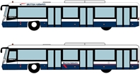 Airport Bus Set, British Airways, 4pcs per box (1:400)