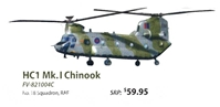 HC1 Mk.1 Chinook Die Cast Model RAF, 18 Squadron (1:72) - Preorder item, order now for future delivery, Forces of Valor Item Number FV-821004C