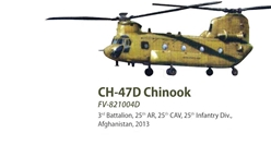 CH-47D Chinook Die Cast Model 3rd Battalion, 25th AR, 25th CAV, 25th Infantry Div., Afghanistan 2013 (1:72), Forces of Valor Item Number FV-821004D