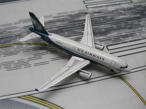 US Air Philadelphia Eagles A319 (1:400), GeminiJets 400 Diecast Airliners Item Number GJUSA001