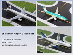 BWIA 737-8, Continental 757-2, Air Transat A330-2 (3 set) 1:400