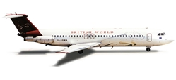 British World BAC-111-500 (1:500) with Husk Kits, Herpa 1:500 Scale Diecast Airliners Item Number HE525923