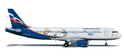 Aeroflot A320 (1:200) Sochi 2014, Herpa 1:200 Scale Diecast Airliners Item Number HE555944