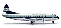 British Midland Viscount 800 (1:200) REG# G-AZNA, Herpa 1:200 Scale Diecast Airliners Item Number HE556118