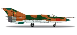 NVA/LSK MIG-21MF (1:200) JG1 Brown Camo, Herpa 1:200 Scale Diecast Airliners Item Number HE556170