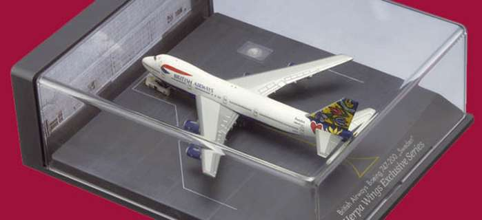 British Airways B747-200 Sweden In Case (1:500), Herpa 1:500 Scale Diecast Airliners Item Number HE502665