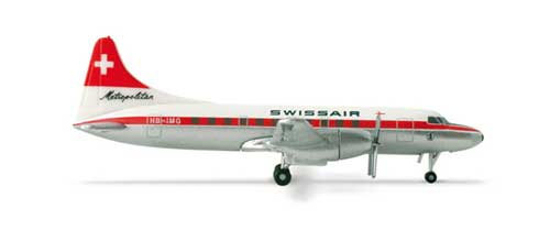 Swissair CV-440 (1:500), Herpa 1:500 Scale Diecast Airliners Item Number HE517591