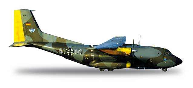 Luftwaffe C160 LTG61 Norm 72 Bemalung Livery (1:500), Herpa 1:500 Scale Diecast Airliners Item Number HE518550