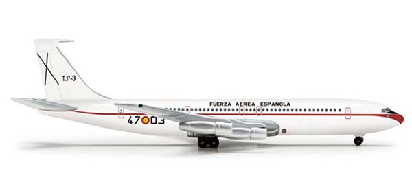 Spanish Air Force 707-300 (1:500), Herpa 1:500 Scale Diecast Airliners Item Number HE518840