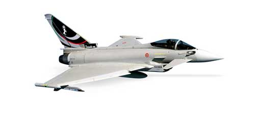 Italian Af Eurofighter Typhoon (1:200), Herpa 1:200 Scale Diecast Airliners Item Number HE553704