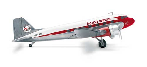 "Herpa DC-3 ""75 Years"" (1:200), Herpa 1:200 Scale Diecast Airliners Item Number HE553803"
