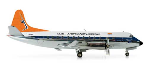 South African Viscount 800 (1:200), Herpa 1:200 Scale Diecast Airliners Item Number HE553957