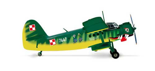 Polish Air Force AN-2 Der Wiener 13 Eltr (1:200), Herpa 1:200 Scale Diecast Airliners Item Number HE553964